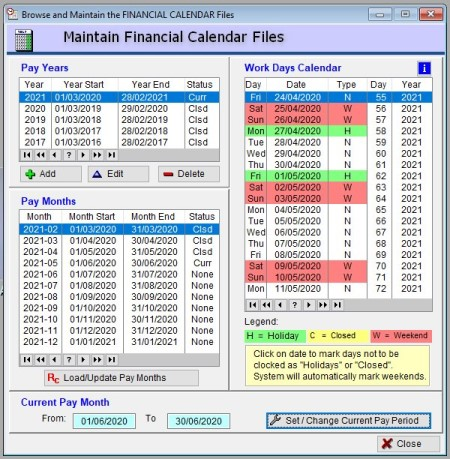 ioClock Calendar file page Innovative Options software